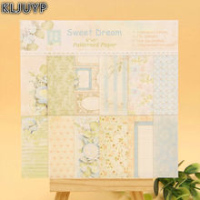 KLJUYP 24 Sheets New Flowers Scrapbooking Pads Paper Origami Art Background Paper Card Making DIY Scrapbook Paper Craft(China)