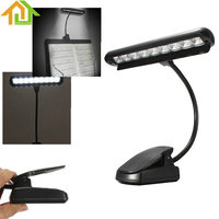 9 LEDs Clip On Orchestra Music Stand Piano Flexible LED Adapter Lamp Light