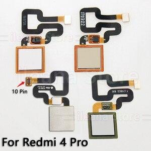Image 3 - Cabo flexível traseiro botão de início original, sensor de impressão digital, para xiaomi redmi note 4 4x global pro, peças de reparo de telefone