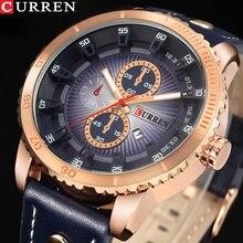 2018 NEW Luxury Brand CURREN Men Sport Watches Mens Quartz Clock Man Army Military Leather Wrist Watch Relogio Masculino