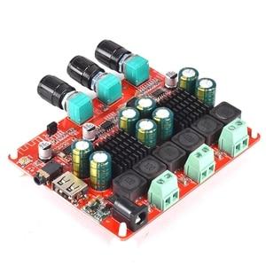 Image 5 - HIFI TPA3116 ซับวูฟเฟอร์ BLUETOOTH 4.2 เครื่องขยายเสียง 2.1 สเตอริโอเสียงดิจิตอลเครื่องขยายเสียงบอร์ด 50W * 2 + 100 วิทยุ FM USB