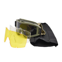 20*10cm Airsoft Anti-fog Hiking Army Goggles Sunglasses Men Military