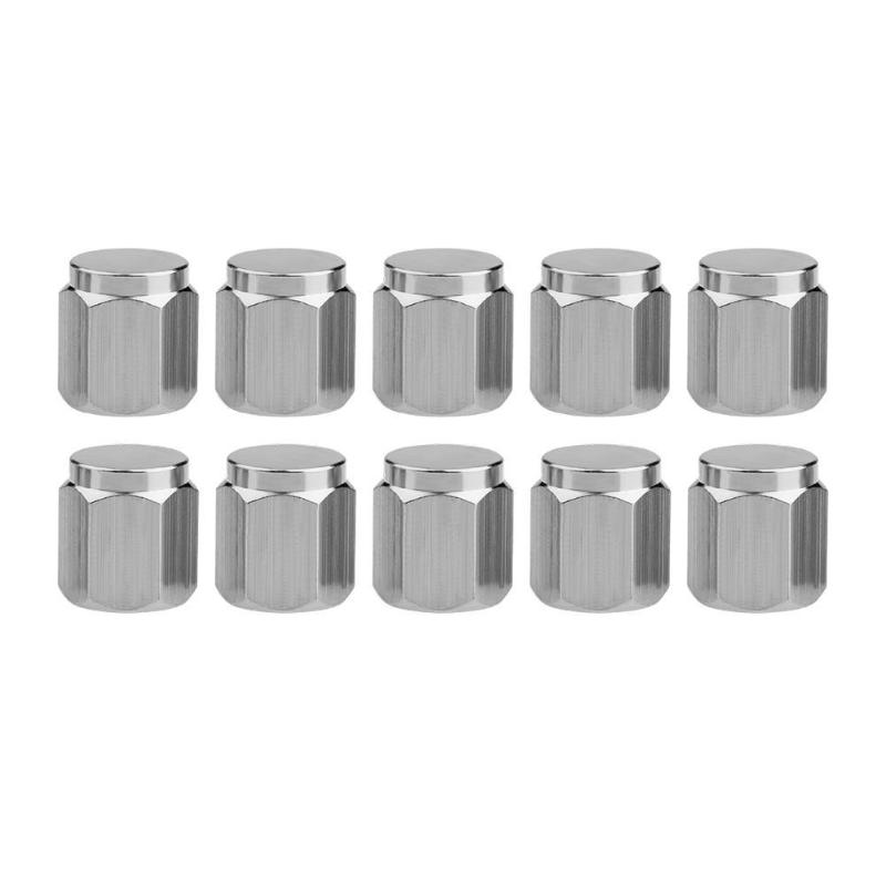 10pcs Chrome Copper Car Motorcycle Wheel Tire Valve Stem Caps Dust Covers
