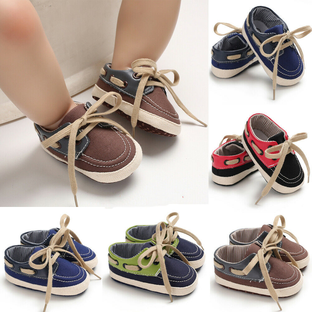 Fashion Baby Boys Girls Sneakers Leather Sports Crib Soft First Walker Shoes US