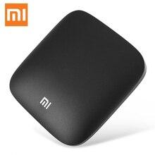 Original xiaomi MI 3 S tv box tv box versión global de Mi caja 4 K Android TVTM decodificador HDR vídeo soporte Bluetooth de voz remoto