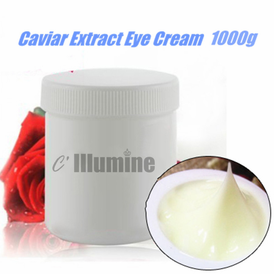 Caviar extrait yeux crème Anti-rides réparation ridules Anti-âge hydratant dilué yeux noirs supprimer poche Roe Essence 1000g