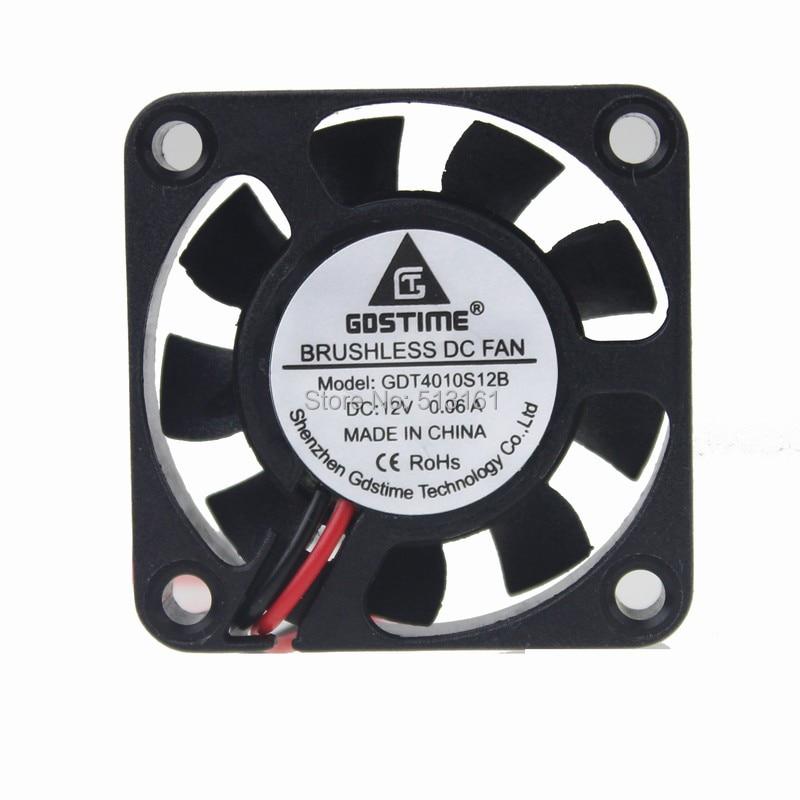 50Pcs Gdstime 4010S 40MM 40 x 40 x 10MM 12V 2 Pin DC Cooler Small Cooling