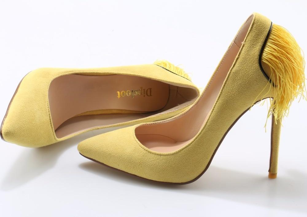 Retour Talons De Partie Stiletto Faux Vente Sexy Suede Chaude Yellow En Gland 2018 Haut Femmes Pompes Mode Cuir Pointu Dames Jaune Couleur Bout qTZfU1nw
