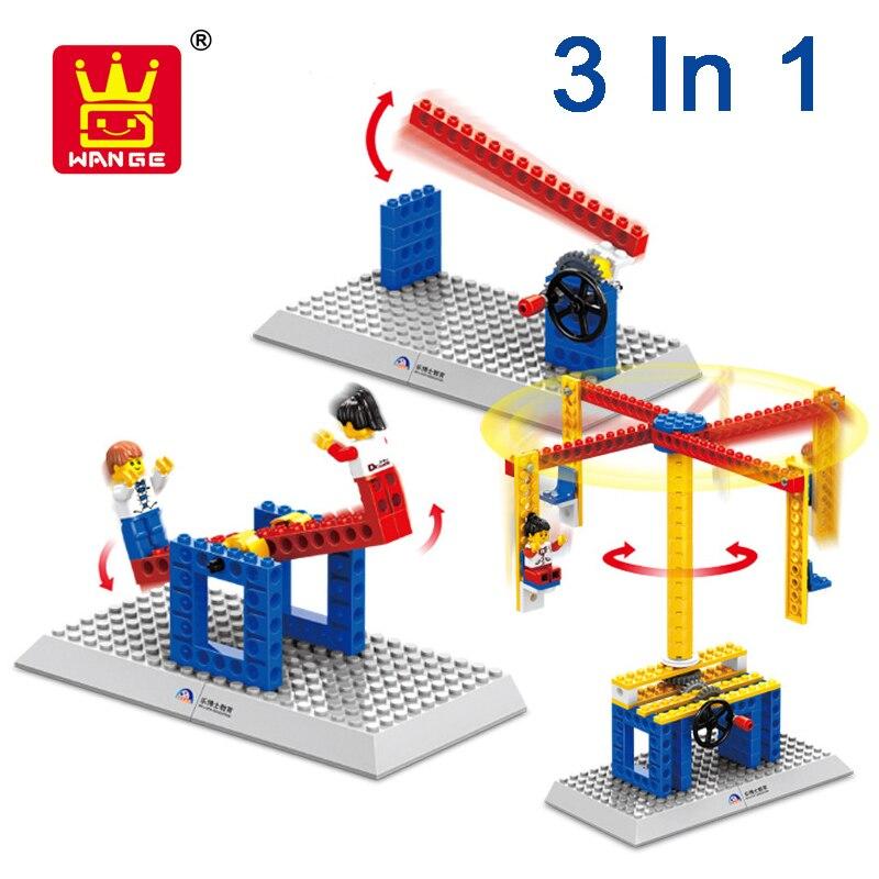 WANGE 3 In 1 Model Block Creative Assembled Building Blocks Figure Bricks set Educational DIY Toys For Children Gifts
