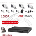 HIKVISION Englisch Version DS-7208HGHI-F1/N 1080P und DS-2CE16D0T-IRF 8CH KITS mit HDD Optional