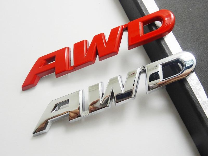 SUKO 3D стайлинга автомобилей хромированный металл Стикеры AWD эмблемы сзади наклейка логотип для Toyota Impreza Subaru Honda 4X4 внедорожник AWD