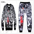 Plus size 3XL 4XL Autumn/Winter 2016 men/women 3D print Jordan Last Shot crewneck sweatshirts/jogger pants/tracksuit sportwear