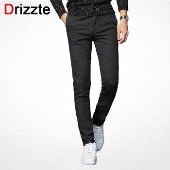 e49fb0fb2d Drizzte Mens Slack traje Pantalones Casual Pantalones Slim Fit pantalones  de vestir para hombres de negocios negro