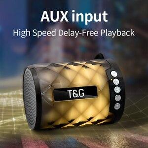 Image 4 - TG Đầy Màu Sắc Led Bluetooth Loa Di Động Ngoài Trời Bass Loa Loa Không Dây Mini Cột Hỗ Trợ thẻ TF FM Stereo Hi Fi Hộp
