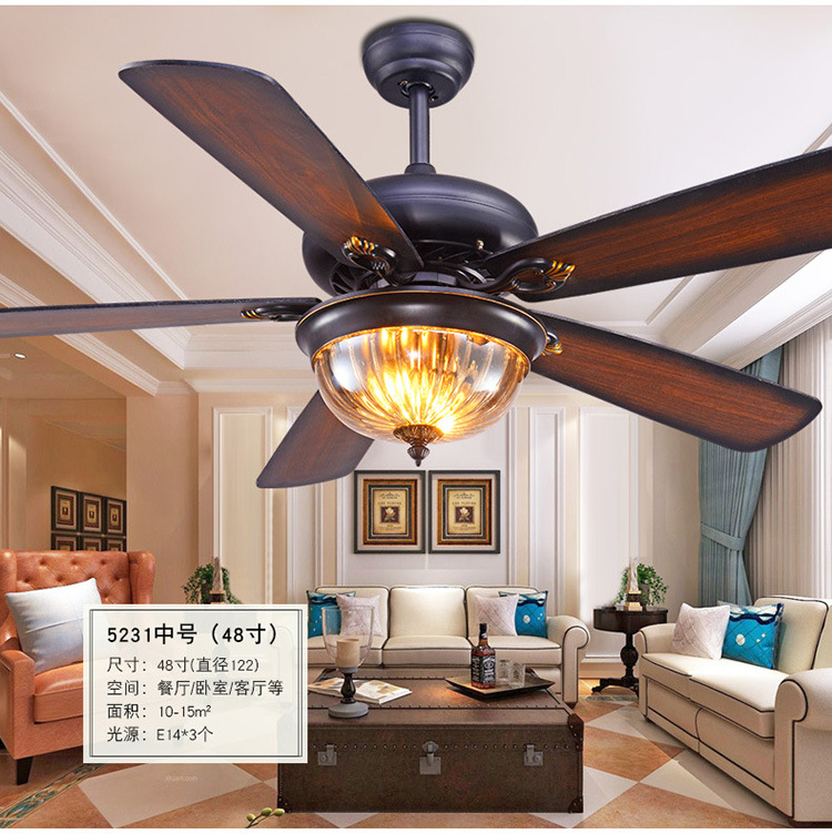 Nordic Ceiling Fan Lights Industrial Lamps Remote Control
