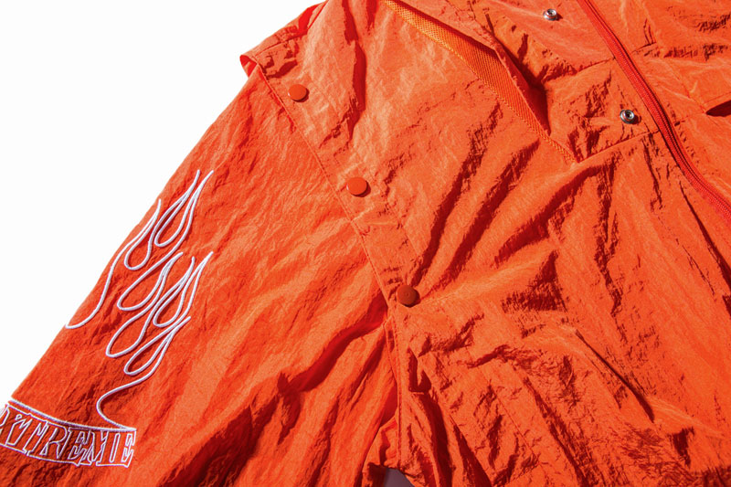Sleeve Fire Flame Embroidered Pullover Hoodie 6