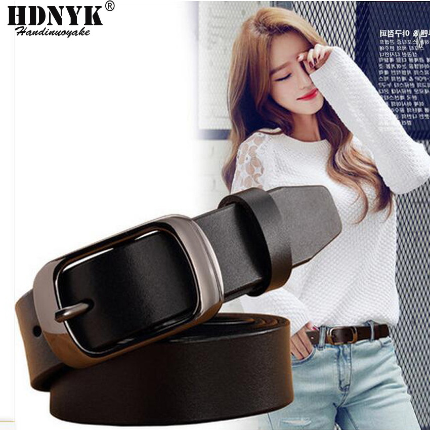 Hot Sell Black Buckle Fashion Wide Genuine Leather   Belt   Woman Vintage Cow Skin   Belts   Women Top Quality Strap Female for Jeans