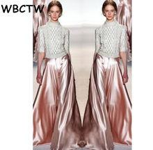 86005a4422403 WBCTW Autumn Wide Leg Long Pants Skirts Womens Runaway Plus Size XXS-10XL  Pink Woman Maxi Flare Skirt Pant 2018 Trouser