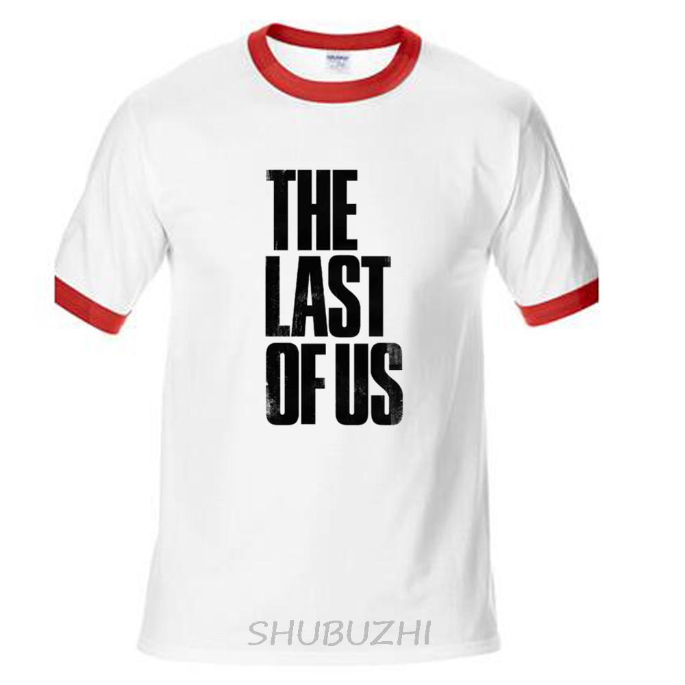 The Last Of Us T Shirt Men Video Game Letter T Shirt Persionalized