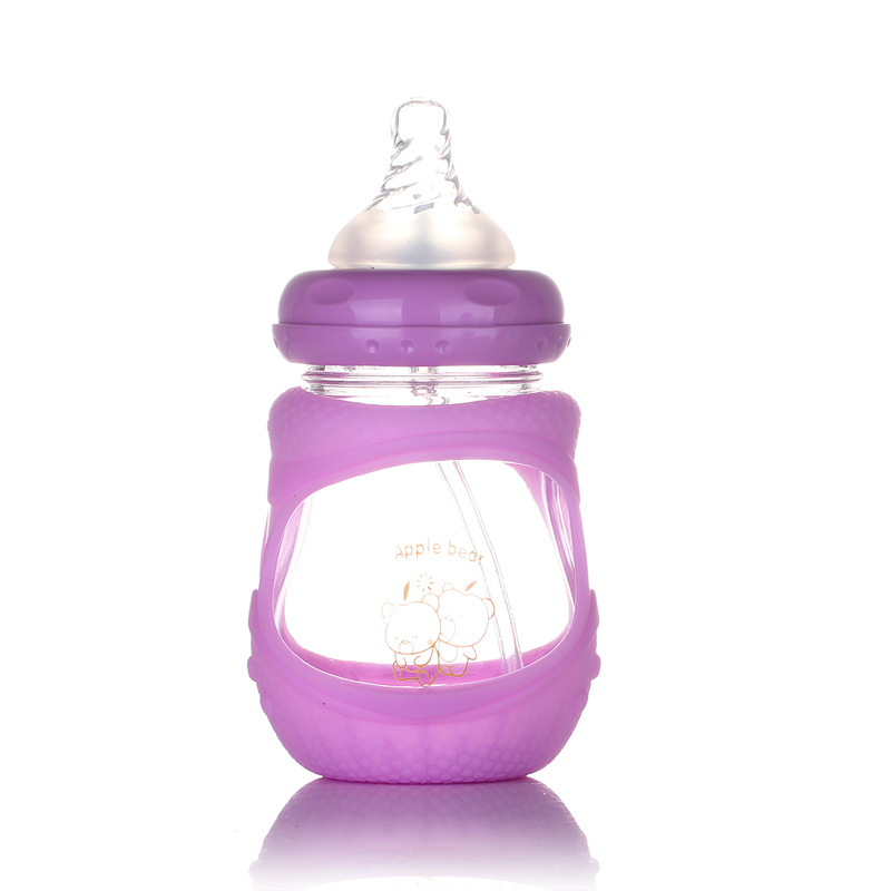 Bottle manufacturer Newborn wide mouth bottle Explosion proof glass baby bottle wholesale 150mL in Bottles from Mother Kids