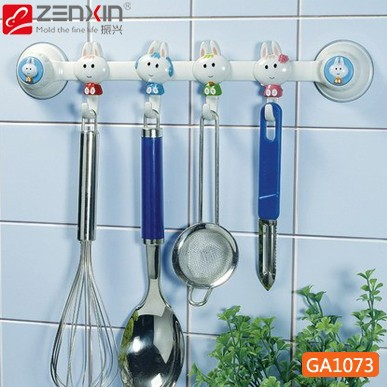 Hot Suction wall four linked hook high quality 2pcs/lot 34*7*3.5CM  free shipping
