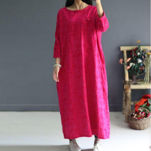 Бесплатная доставка новый оригинальный дизайн китайский стиль простой  хлопок Конопля жаккард свободные Pankou нарядное платье s481 купить на  AliExpress b09f3a722a37a