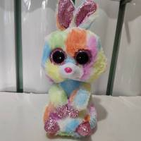 Bloomy multicolor bunny rabbit TY BEANIE BOOS 1PC 15CM Plush Toys Stuffed  animals children toy SOFT e6cfec76c484