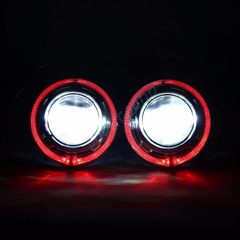 Bluetooth Wirless RGB Angel Eyes Cover Car LED LED - Ավտոմեքենայի լույսեր - Լուսանկար 1