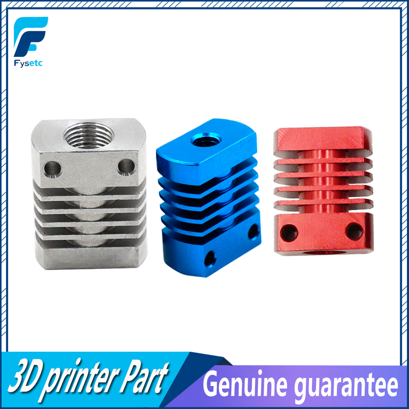 Red/Blue/Silver MK10 V6 Heat Sink Radiator Fit 22mm Cooling Fan Red Aluminum Fins With Size 27x22x12mm Hot For CR8/CR10 maitech dc 12 v 0 1a cooling fan red silver