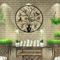 Metal Iron Circular Wall Decor Ornaments Creative Wall Decorations Living Room Background Wall Art Metal Decoration 62CM