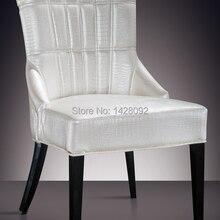 Европейский и американский стиль удобный белый обеденный стул с обивкой LQ-L8976