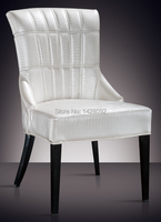 European And American Style Comfortable White Upholstered Dining Chair LQ L8976