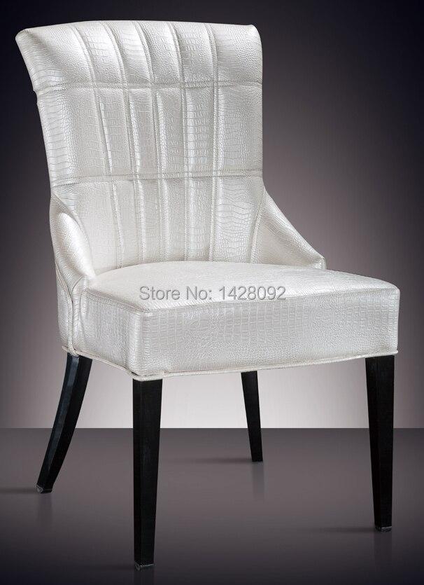 Stile europeo e americano confortevole bianco imbottita sedia da pranzo LQ-L8976Stile europeo e americano confortevole bianco imbottita sedia da pranzo LQ-L8976