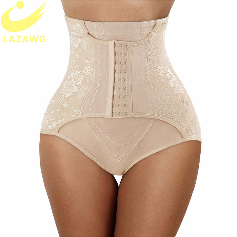 LAZAWG Women Firm Tummy Control Panties Body Shaper Underwear Seamless Shapewear Magic Body With Hooks Waist Trainer Butt Lifter