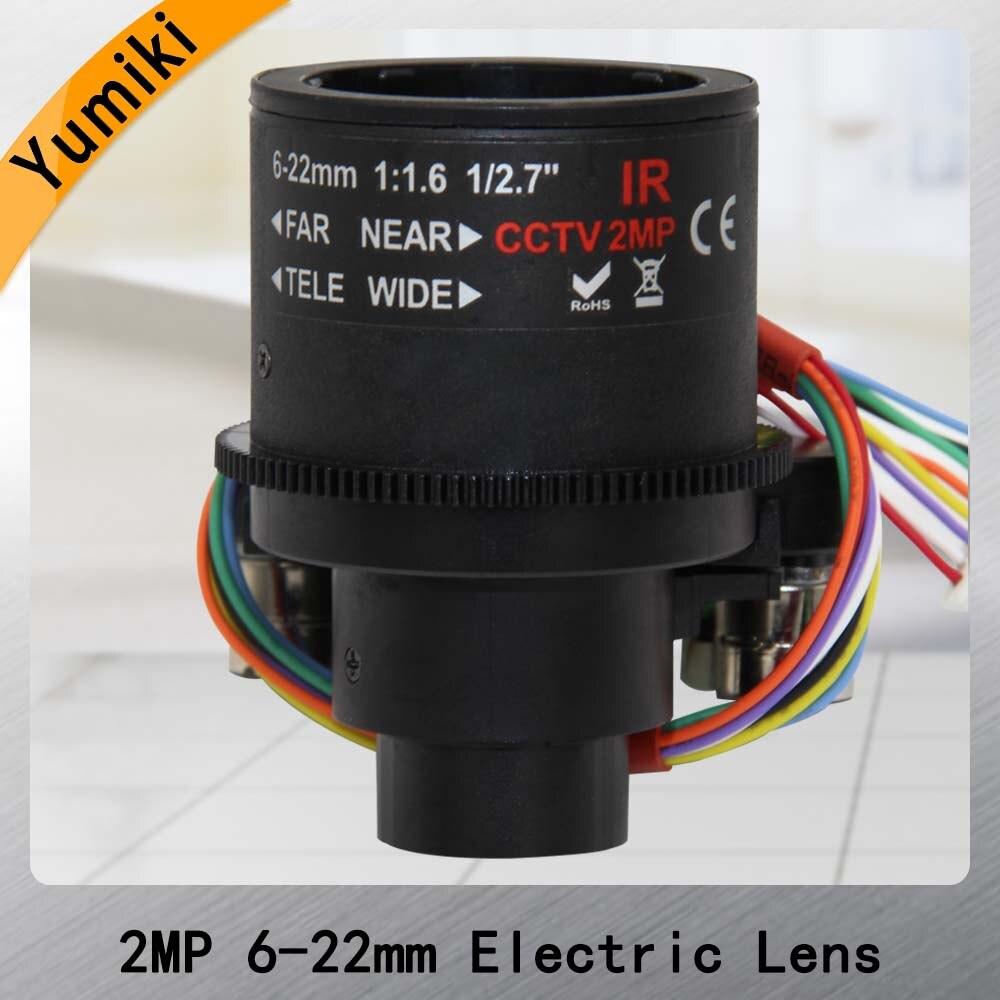 HD 2.0megapixel Auto Iris 6-22mm M14 Motorized CCTV Lens,F1.6, ICR, Auto Zoom, Auto Focus, Auto IrisHorizontal Field 43.-16.5D