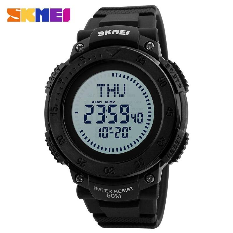 SKMEI Compass Outdoor Sport Watch Men Countdown Chrono Alarm Watches Waterproof Fashion Digital Wristwatches Relogio Masculino цена