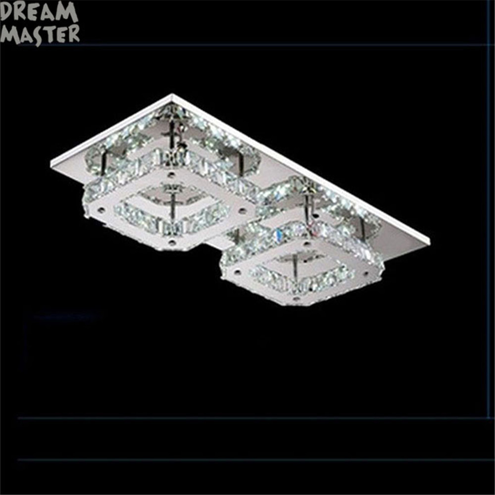 24W Led chandelier Lights modern Crystal lustres Luminaria lamparas de techo Fixture For Home Lighting LED