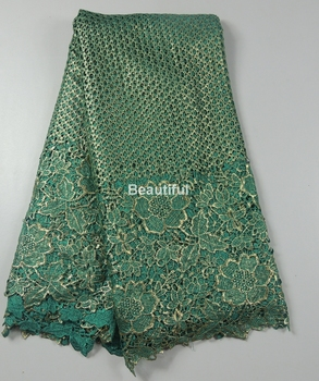 classic bronzed cord guipure lace fabric  African cord lace net lace for sewing dress 5yards 10 colors available