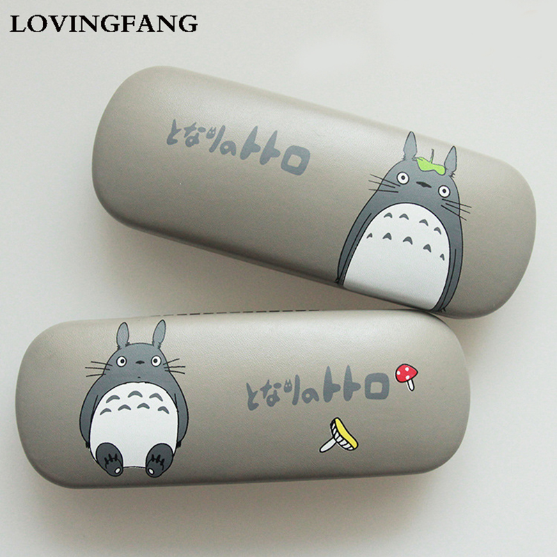 Fashion Totoro Glasses Case For Women Cartoon Eyeglass Case Leather Spectacle Cases Hard Glasses Box Eyewear Protector Cover