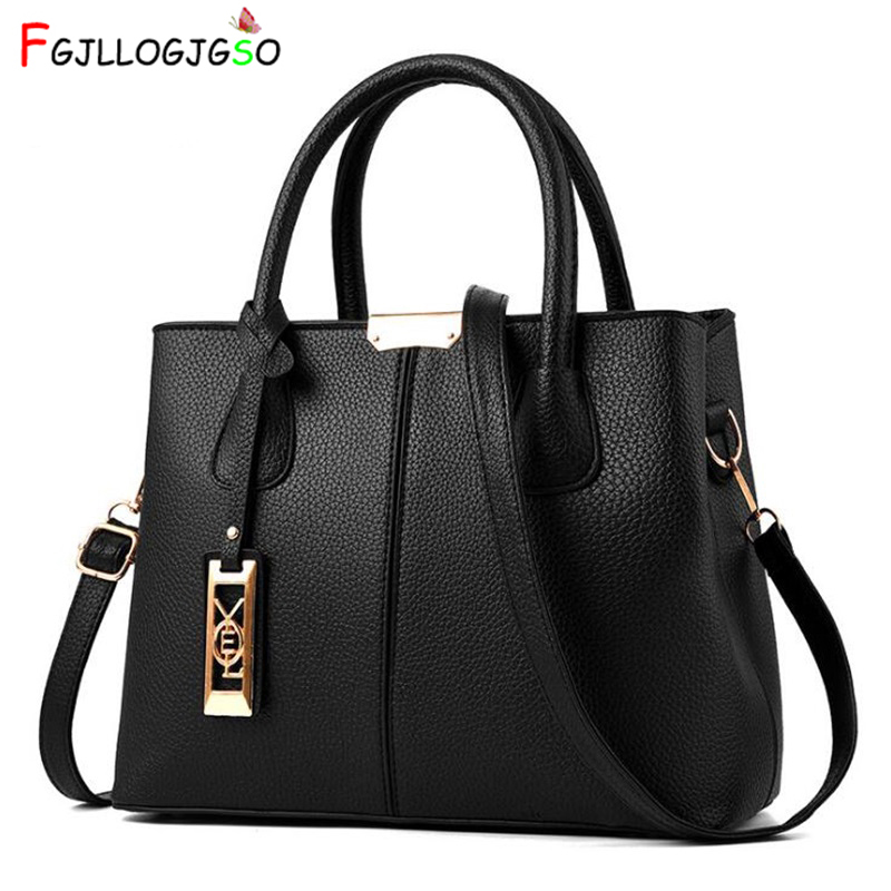 FGJLLOGJGSO Women's Handbag 2019 New Women Messenger Bag Casual Women PU Leather Handbags Lady Classic Shoulder Bags Female Tote