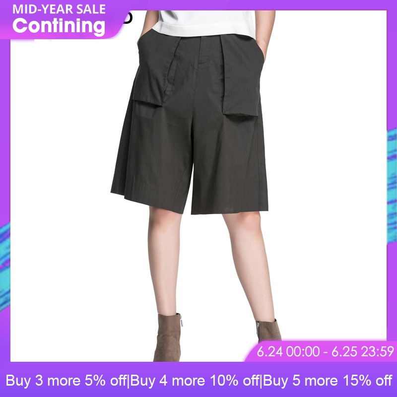 SELECTED Brand New office lady casual loose mid keen length   wide     leg     pants   women |416315516