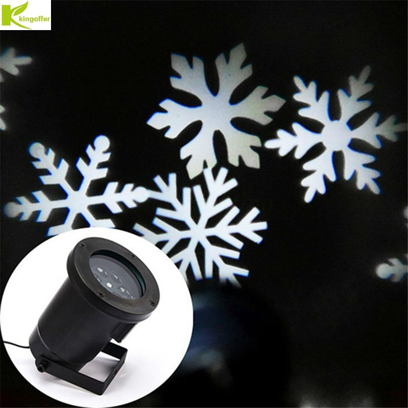 Kingoffer Waterproof Outdoor Christmas Led Stage Light Romantic White/RGB Snowflake Projectors, Mini Christmas Laser Lights купить в Москве 2019
