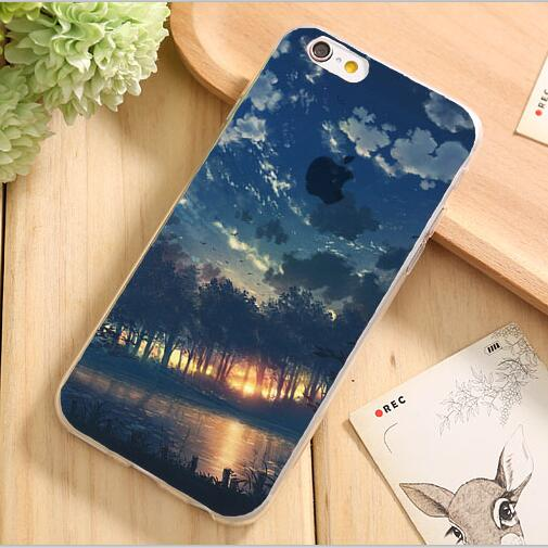 5/5S/SE Cute Scenery Design Soft Silicon Phone Cover Apple iPhone 5 5S SE Case iPhone5S Cases Shell Newest - PHONE-CASE HOME store