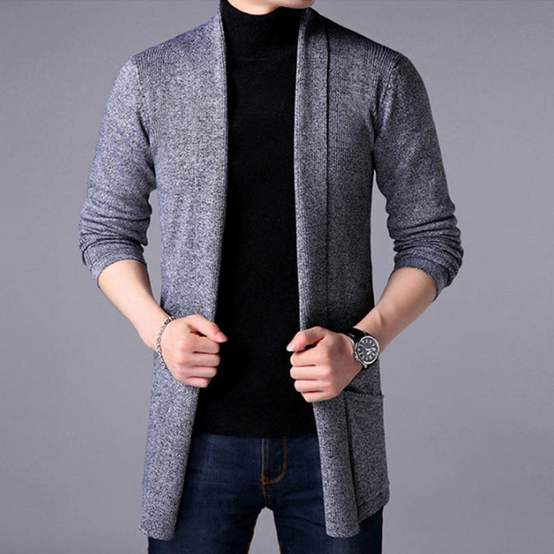 2019 Hot Sale Brand-Clothing Spring Cardigan Male Fashion Quality Cotton Sweater Men Casual Gray Redwine Mens Sweaters M-3XL