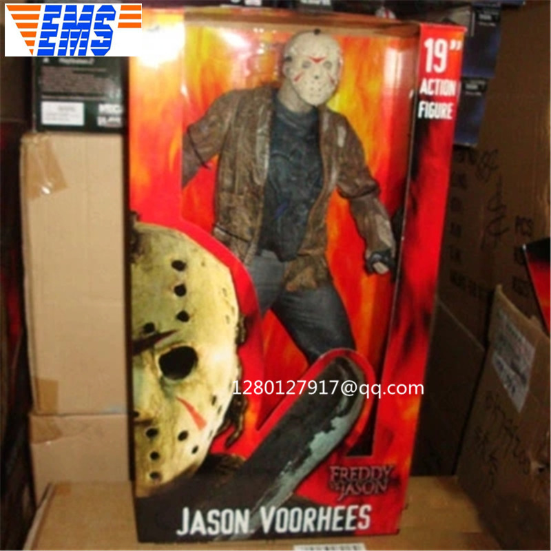 19'' Horror Movie Freddy Vs Jason Over Size Amok Jason Voorhees Friday the 13th PVC Action Figure Collectible Model Toy P1134