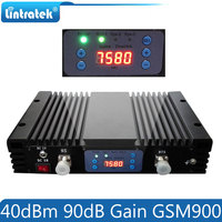 Lintratek 40dBm 90dB Gain 10W Big Power 2G GSM 900mhz AGC/MGC Signal Repeater GSM 900 3G Mobile Signal Booster Amplifier