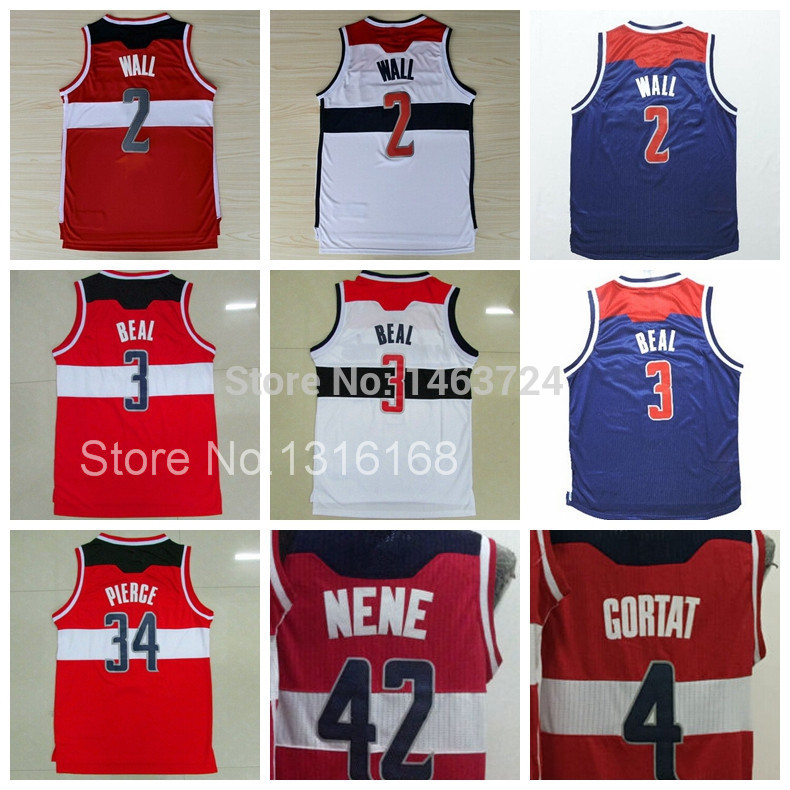 hot sales 51791 ec6fe New Gilbert Arenas 2 John Wall Basketball Jersey 3 Bradley ...