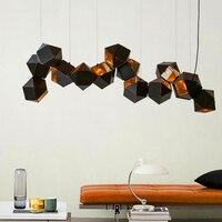 Современные светодиодный люстра Nordic подвесной светильник Лофт деко светильники Гостиная Подвеска светильников спальня подвесные светиль