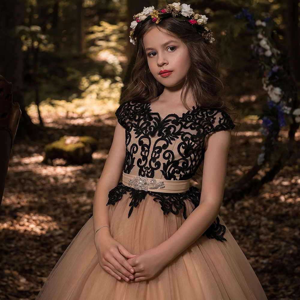 Flower     Girl     Dresses   For Weddings Vestidos daminha Kids Evening Pageant Gowns with Bow First Communion   Dresses   For   Girls