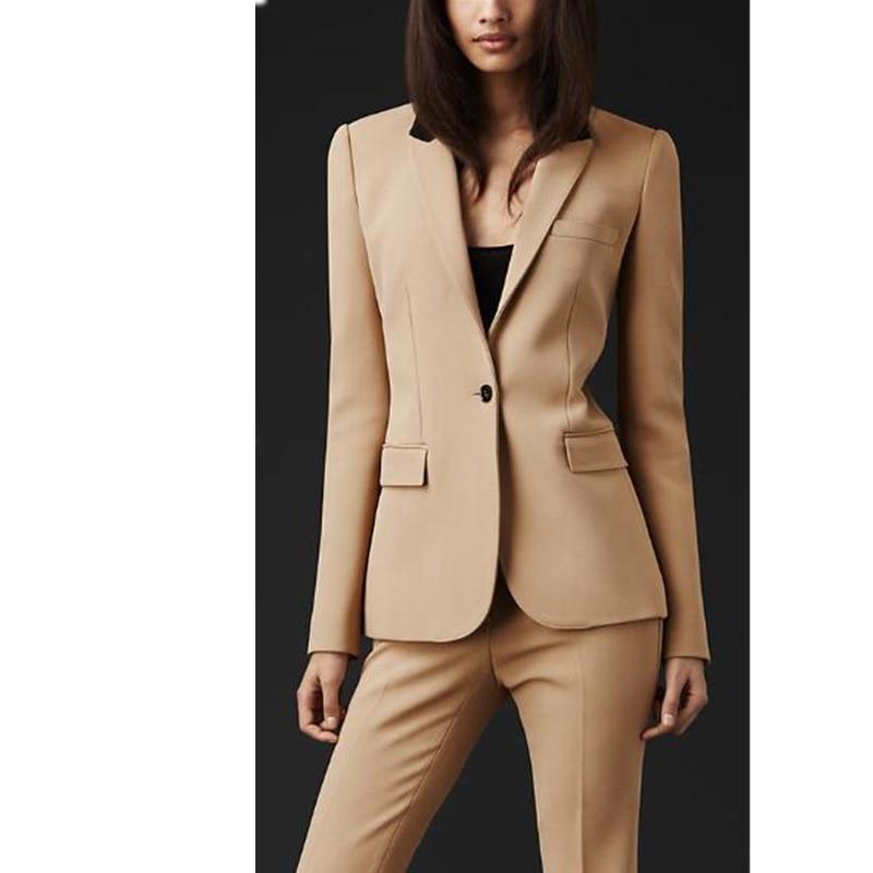 Здесь продается  Women Pant Suits New Custom made Formal Office Women Suit Ladies Business Suit Business Professional Beige Clothes Work Wear   Одежда и аксессуары